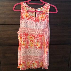 White, Coral & Yellow Design From Old Navy.